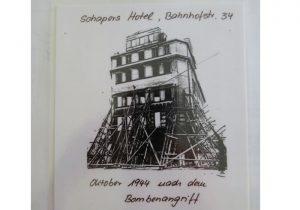 Hotel Schaper Bremen nach dem Bombenangriff