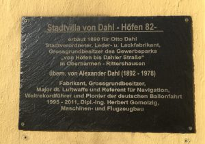 Sign at the house of Otto Dahl