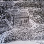 Bozeman Farm - drawing by Otto Dahl