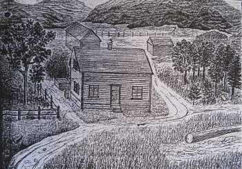 Otto's drawing of the Farm