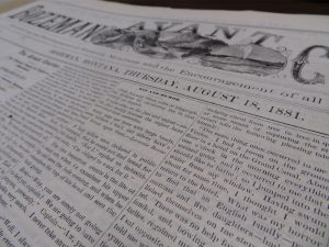 Bozeman Avant Courier 1881