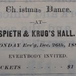 Christmas Ball 1881 - Newspaper found at Gallatin History Museum Bozeman