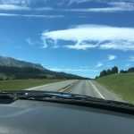 Driving along Bridger Creek