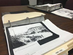 Picture folders at the Gallatin History Museum