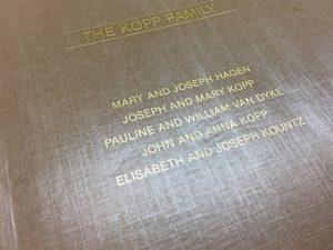 Kopp Family Book