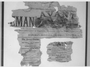 Newspaper found in the wall of the building by the Rugheimer Family