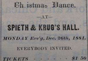 Christmas Ball Bozeman 1881