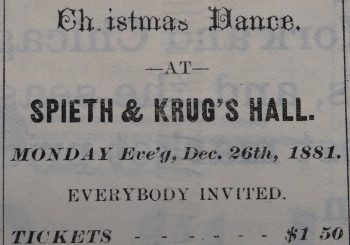 Christmas Ball Bozeman 1881