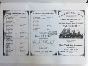 passenger list Mosel