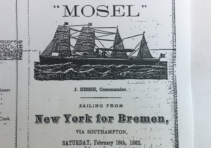 1882: New York – Barmen